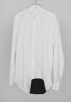 眼鏡やケータイが拭けるYシャツ「wipe shirt [shirttail]」の写真