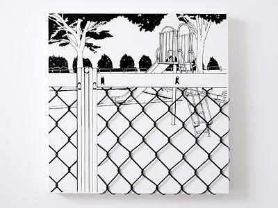 小物ハンガー「フェンス越しの遊具」empty
