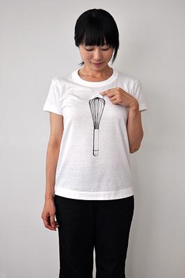 かわいいTシャツ「泡立て器」モデル レディース2