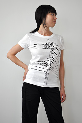 SHIKISAI Alternative T-shirt, Power Pole, ladies