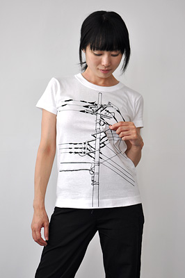 SHIKISAI Alternative T-shirt, Power Pole, ladies2