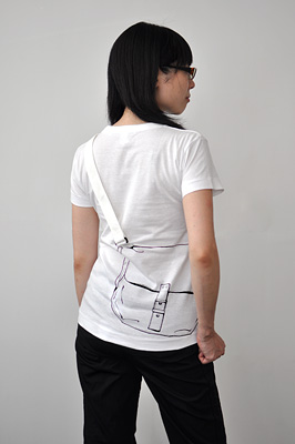 SHIKISAI Alternative T-shirt, Shoulder Bag, ladies back