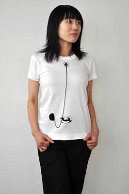 シキサイTシャツ「栓」モデル レディース01