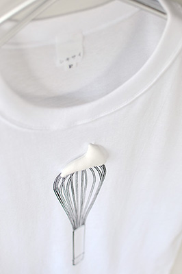SHIKISAI Alternative T-shirt, Whisk, detail