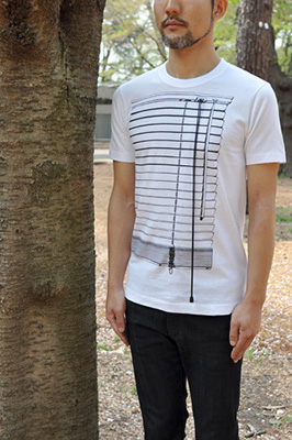 SHIKISAI Alternative T-shirt, venetian blinds, model mens