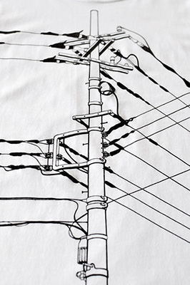 SHIKISAI Alternative T-shirt, Power Pole, zoom