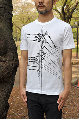 SHIKISAI Alternative T-shirt, Power Pole, model