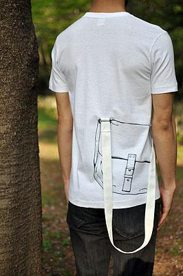 シキサイTシャツ「カバン」モデル2