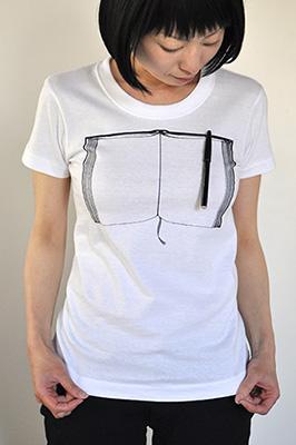 雑貨Tシャツ「ペンとノート」モデル2