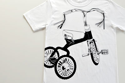 SHIKISAI Alternative T-shirt, Tricycle, detail