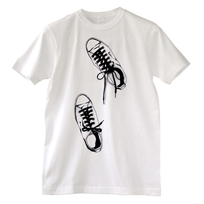 unique art T-shirt [Canvas Shoes]. tied