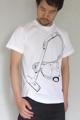 シキサイTシャツ「掃除機」モデル