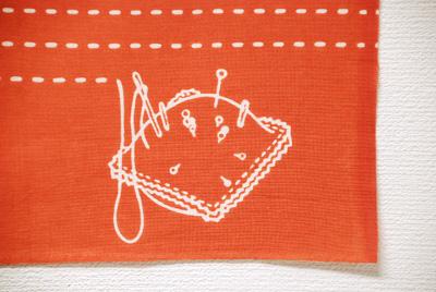手ぬぐい「tenuto」針と糸